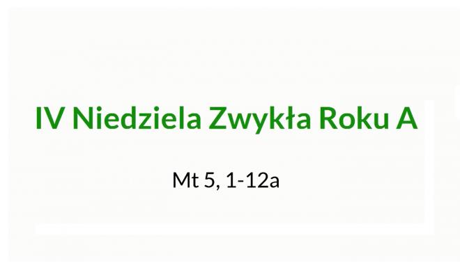NSŻ #10: IV Niedziela Zwykła Roku A – ks. Zbigniew Niemirski