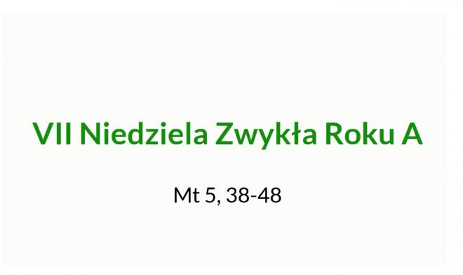 NSŻ #13: VII Niedziela Zwykła Roku A – ks. Jacek Wieczorek